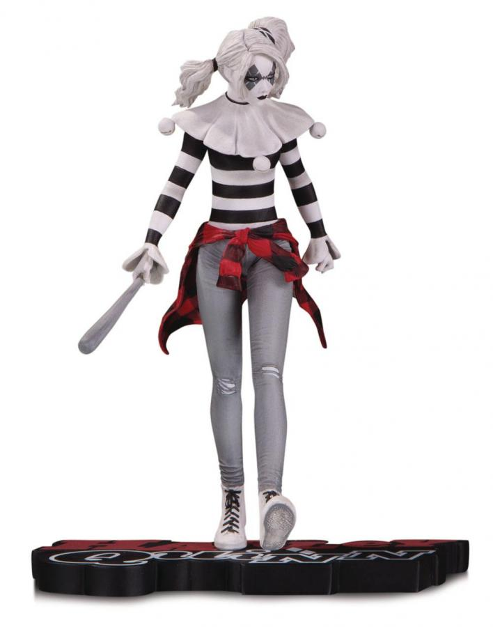 DC Comics: Harley Quinn by Steve Pugh -  Red, White & Black Statue 18 cm - DC Collectibles
