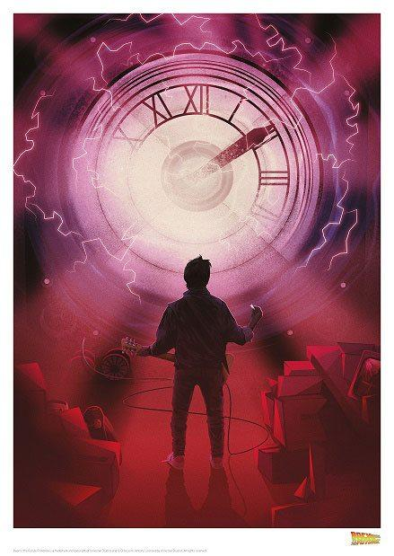 Back to the Future Art Print Marty 42 x 30 cm