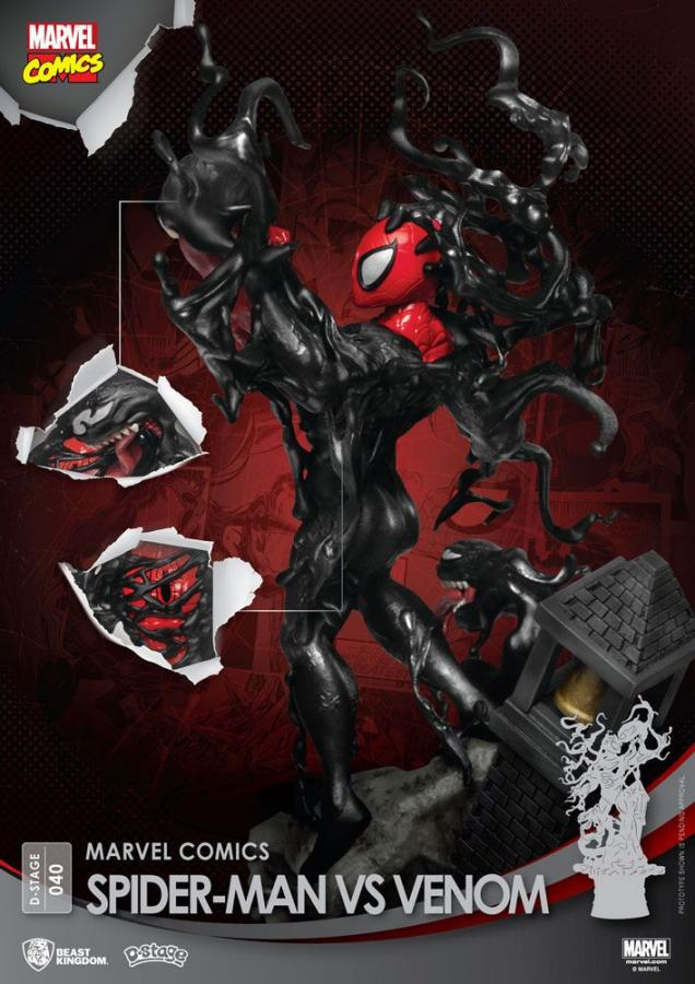Marvel Comics D-Stage PVC Diorama Spider-Man vs. Venom 15 cm