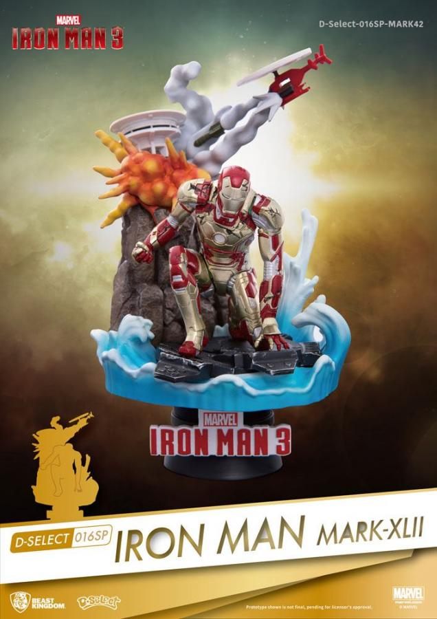 Iron Man 3 D-Select PVC Diorama Iron Man Mark XLII 15 cm