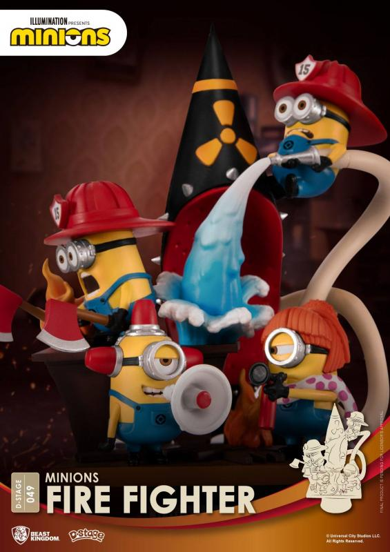 Minions: Fire Fighter -  D-Stage PVC Diorama 15 cm - Beast Kingdom