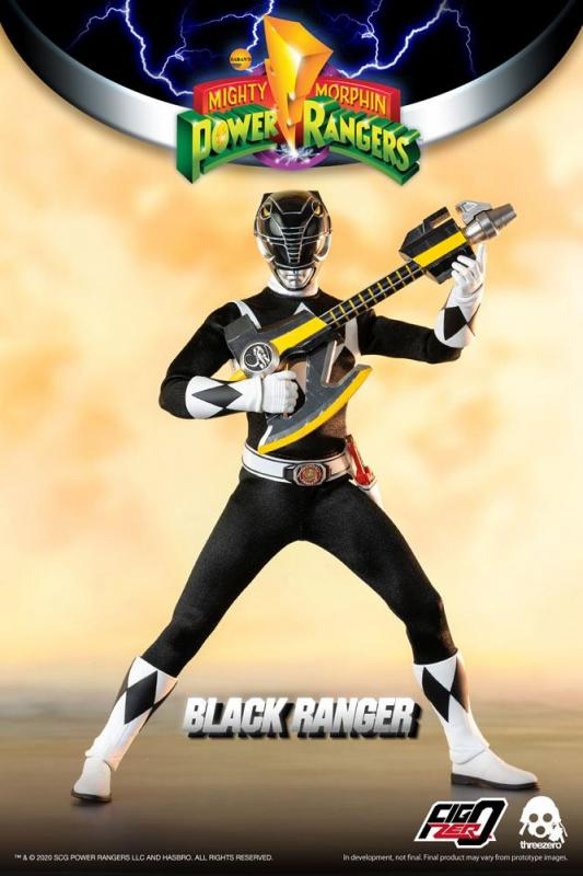 Mighty Morphin Power Rangers: Black Ranger - FigZero Figure 1/6 - ThreeZero