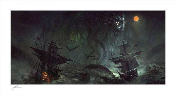 Cthulhu II 46 x 84 cm Art Print by Richard Luong - Sideshow Collectibles