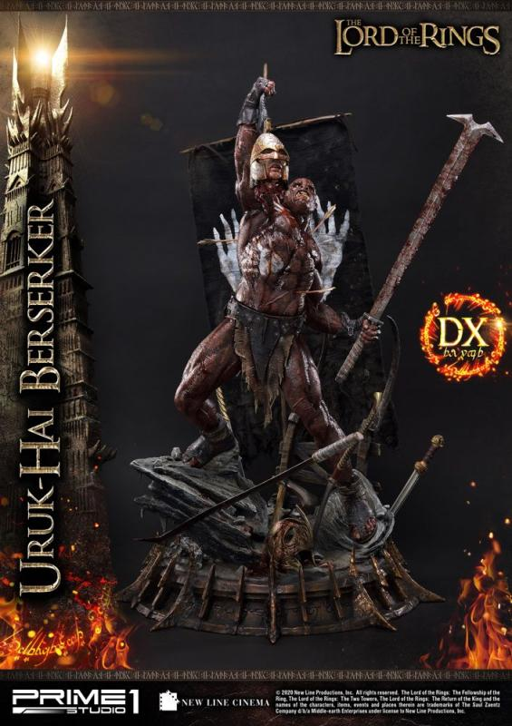 Lord of the Rings: Uruk-Hai Berserker Deluxe Version - Statue 1/4 - Prime 1 Studio