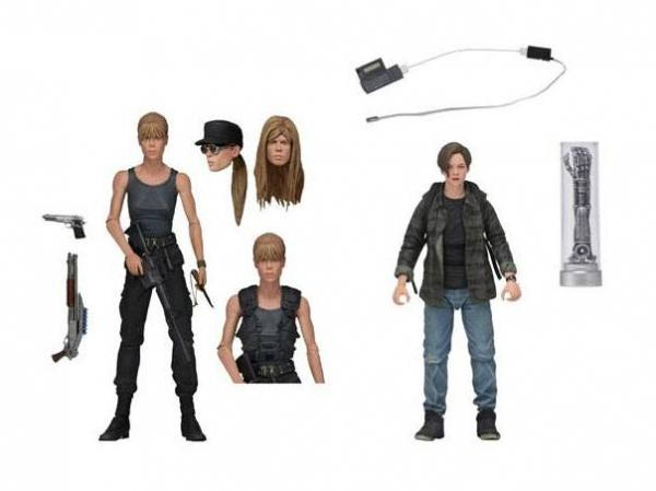 Terminator 2 Judgment Day Action Figure 2-Pack Sarah Connor & John Connor 18 cm