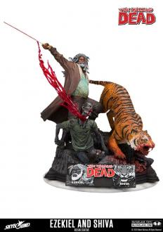 The Walking Dead Statue Ezekiel & Shiva 33 cm