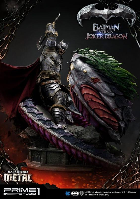 Dark Nights: Metal Statue Batman Versus Joker Dragon 87 cm