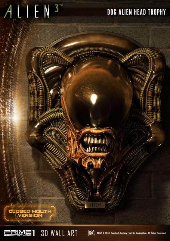Alien 3 3D Wall Art Dog Alien Closed Mouth Ver. 58 cm