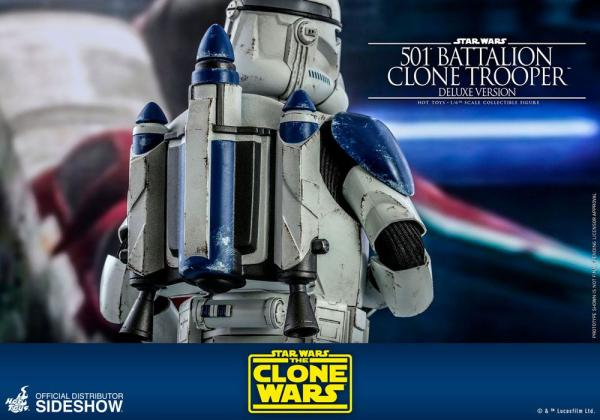 Star Wars The Clone Wars Action: 501st Battalion Clone Trooper(Deluxe) - 1/6 - Hot Toys