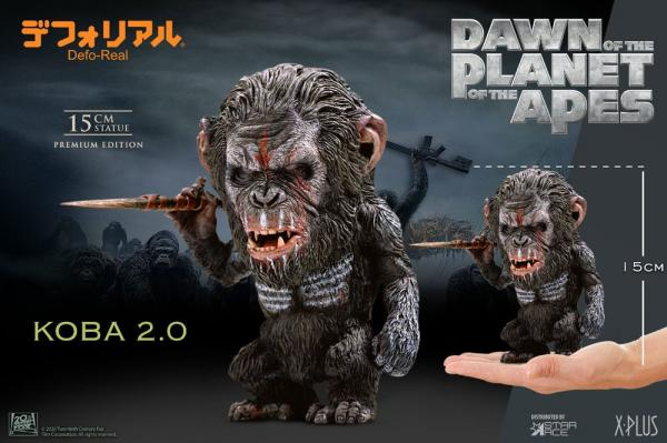 Dawn of the Planet of the Apes Deform Real Series Soft Vinyl Statue Koba Spear Ver. 15 cm