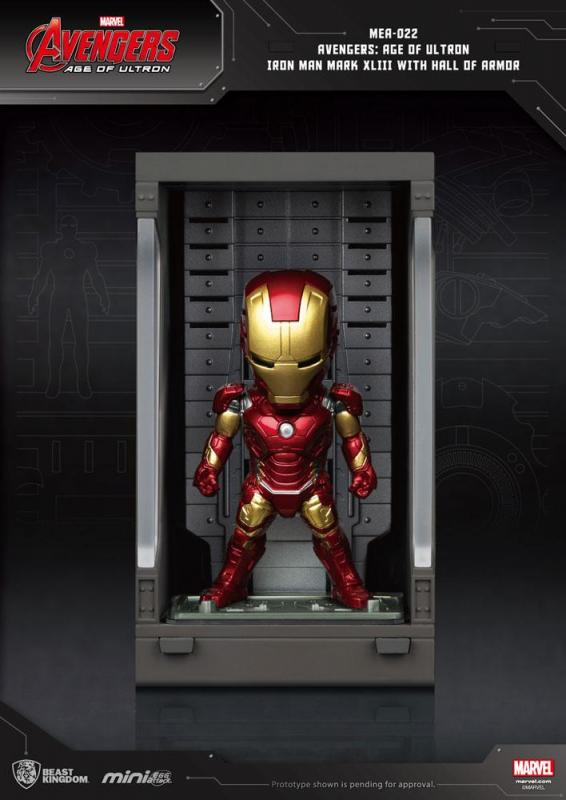 Avengers Age of Ultron Mini Egg Attack Action Figure Hall of Armor Iron Man Mark XLIII 8 c