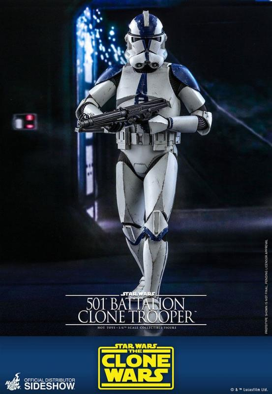 Star Wars The Clone Wars: 501st Battalion Clone Trooper - Figure 1/6 - Hot Toys