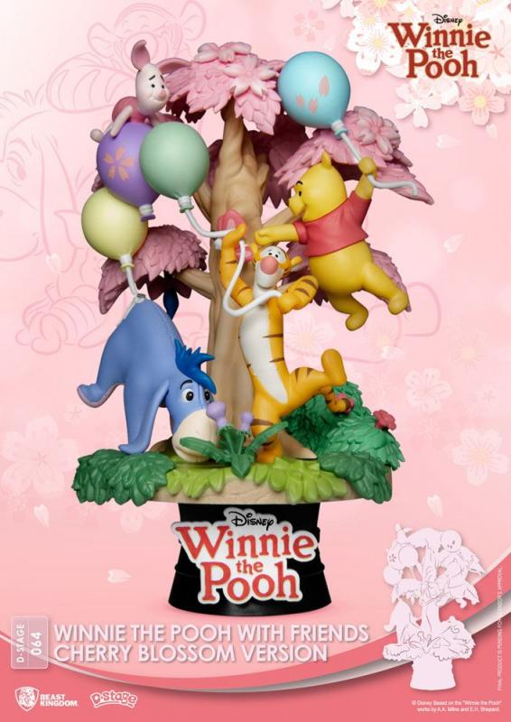 Disney: Winnie the Pooh - D-Stage PVC Diorama - Cherry Blossom Version - Beast Kingdom