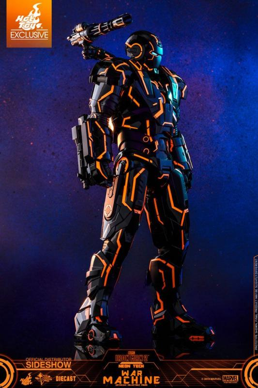 Iron Man 2: Neon Tech War Machine 1/6 Action Figure - Hot Toys
