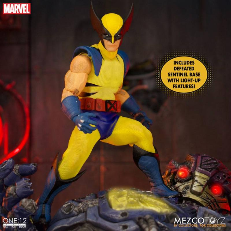 Marvel Universe: Wolverine 1/12 Action Figures Deluxe Steel Box Edition - Mezco Toys