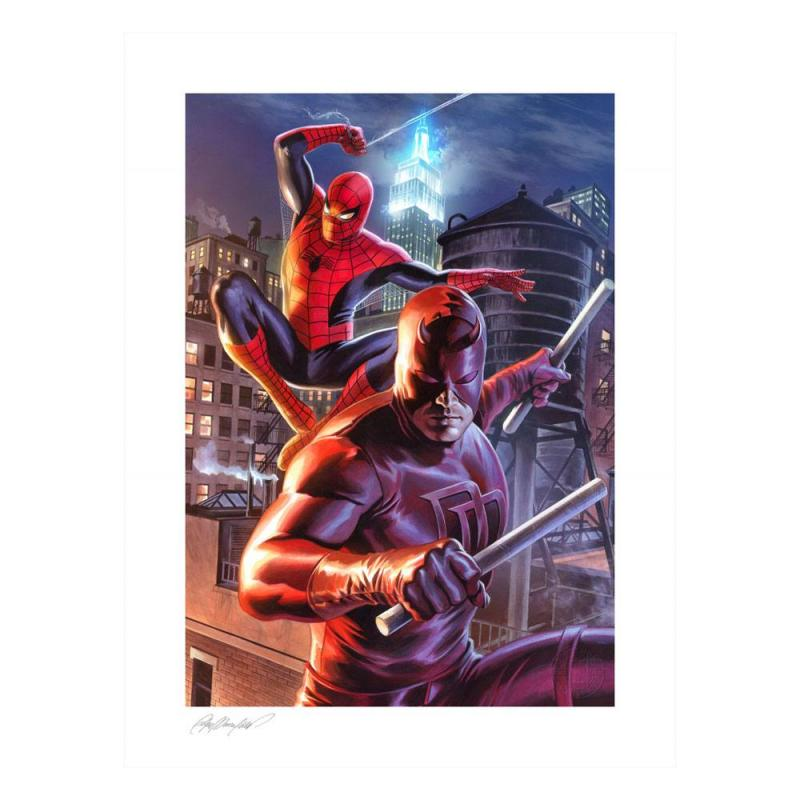 Marvel: Daredevil & Spider-Man 46 x 61 cm Art Print - Sideshow Collectibles
