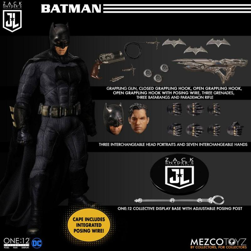 Zack Snyder's Justice League: Steel Box Set 1/12 Action Figures - Mezco Toys