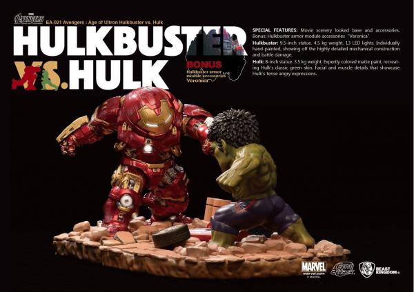Avengers Age of Ultron Egg Attack Statue 2-Pack Hulkbuster vs. Hulk 27 cm
