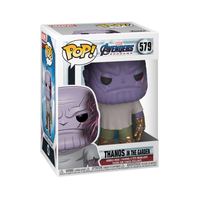 Avengers: Endgame POP! Movies Vinyl Figure Casual Thanos w/Gauntlet 9 cm