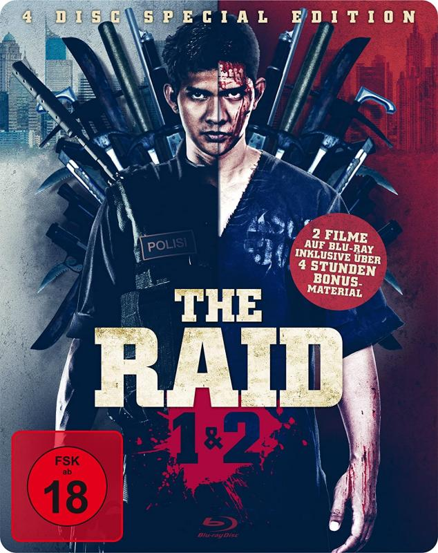 The Raid Blu-ray Steelbook 4 DISC