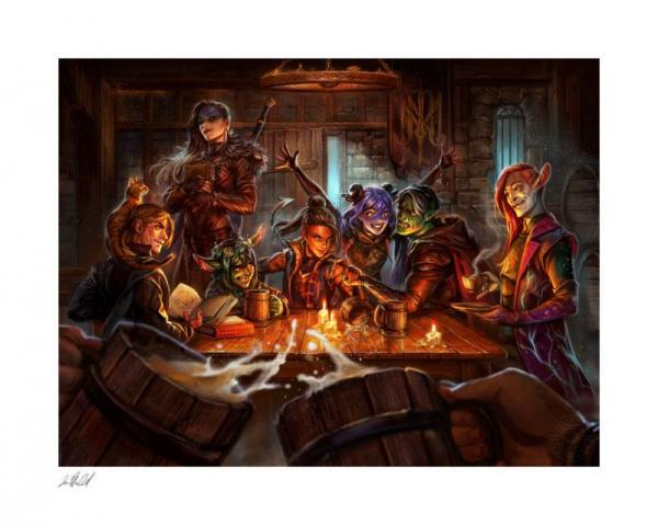 Critical Role: The Mighty Nein This is How We Roll! - Art Print x 57 cm - Sideshow