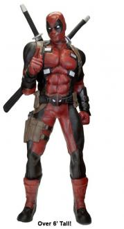 Marvel Life-Size Statue Deadpool (Foam Rubber) 185 cm