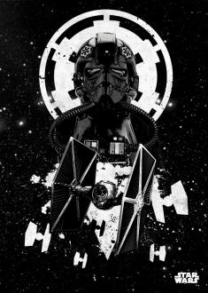 Star Wars Metal Poster Tie Fighter Pilot 32 x 45 cm