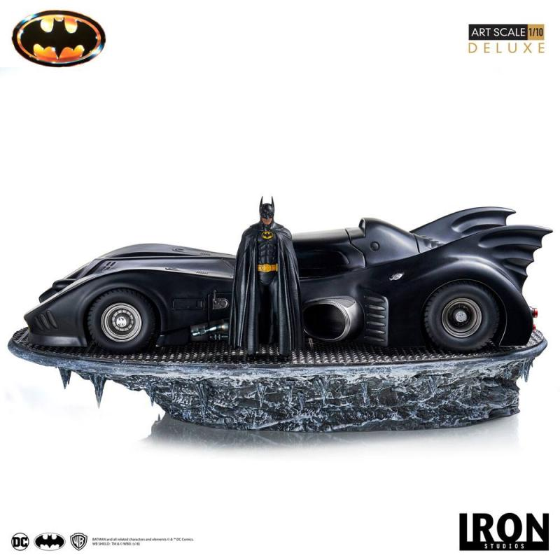 Batman (1989) Deluxe Art Scale Statue 1/10 Batman & Batmobile 75 cm