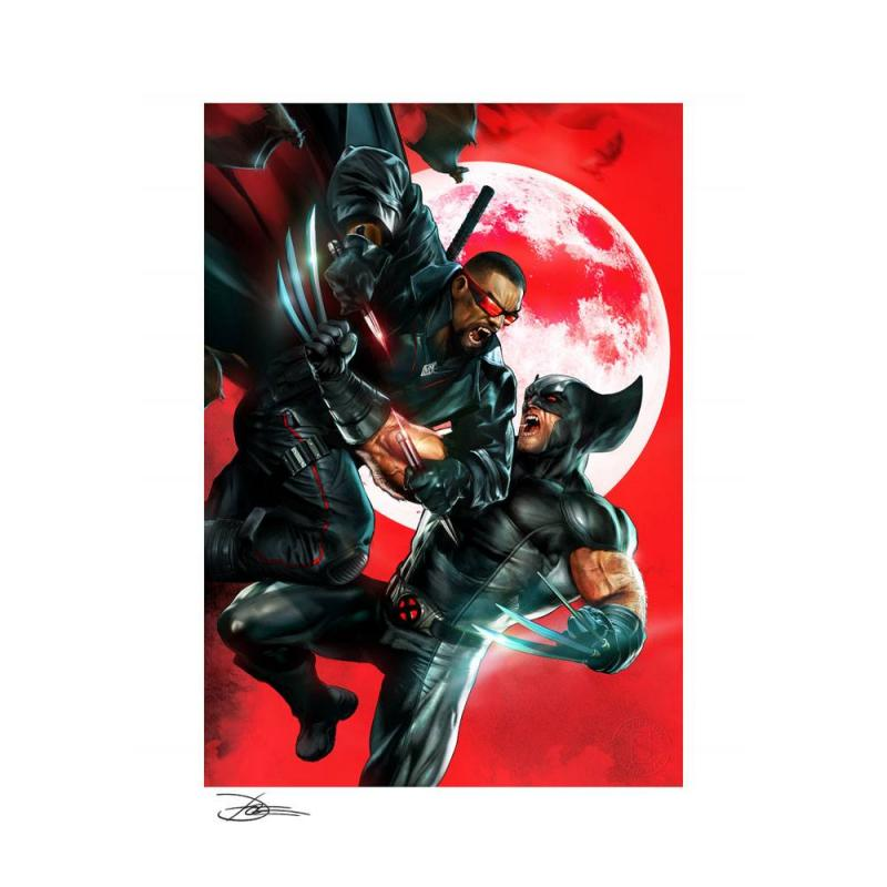 Marvel Art Print Wolverine vs Blade 46 x 61 cm - unframed