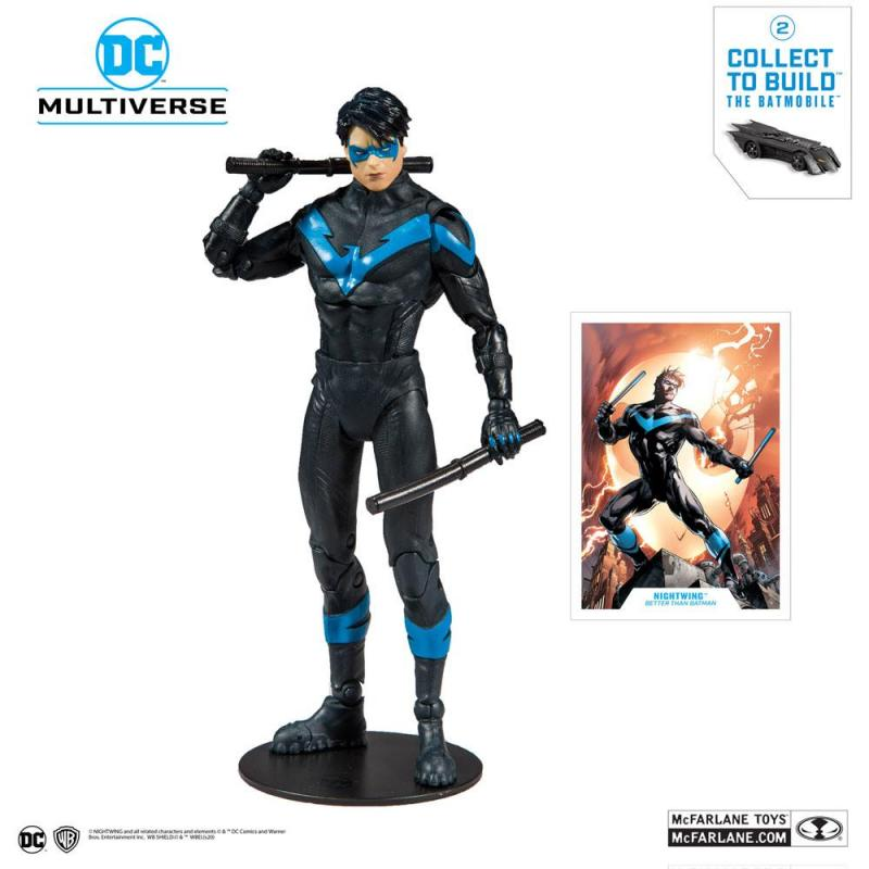DC Rebirth Build A Action Figure Nightwing (Better Than Batman) 18 cm