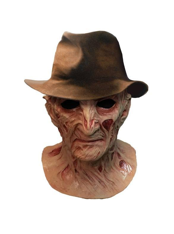 A Nightmare on Elm Street 4: Freddy Krueger - Deluxe Latex Mask with Hat - Trick Or Treat