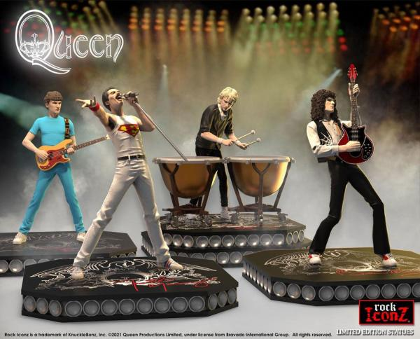 Queen: Rock Iconz 23-25 cm Statue 4-Pack Limited Edition - Knucklebonz