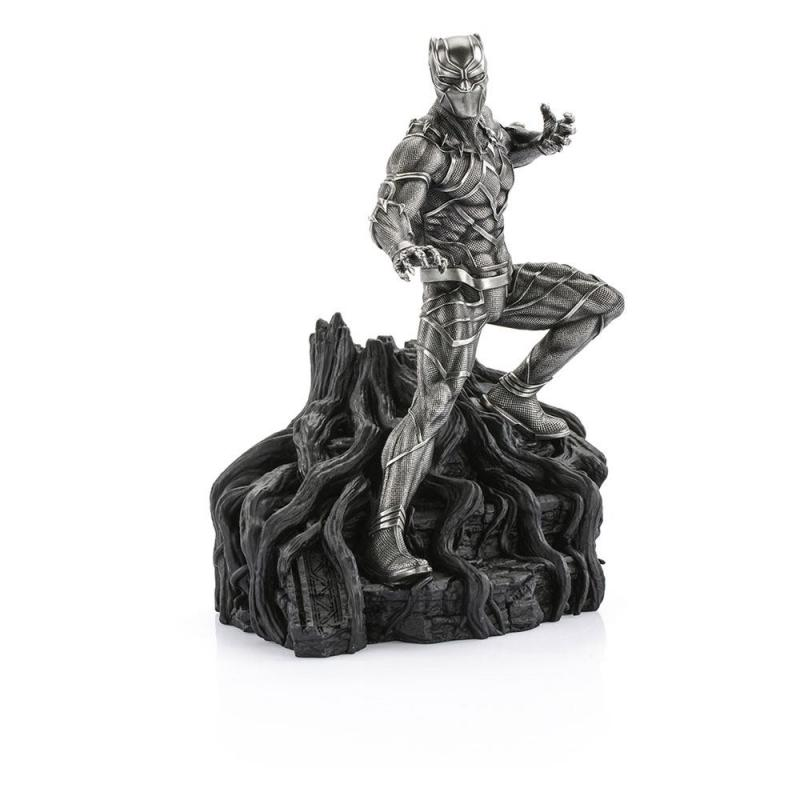 Marvel: Black Panther Guardian 24 cm Pewter Collectible Statue - Royal Selangor
