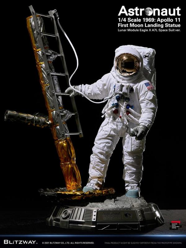 The Real Superb Scale Hybrid Statue 1/4 Astronaut Apollo 11 : LM-5 A7L ver. 79 cm