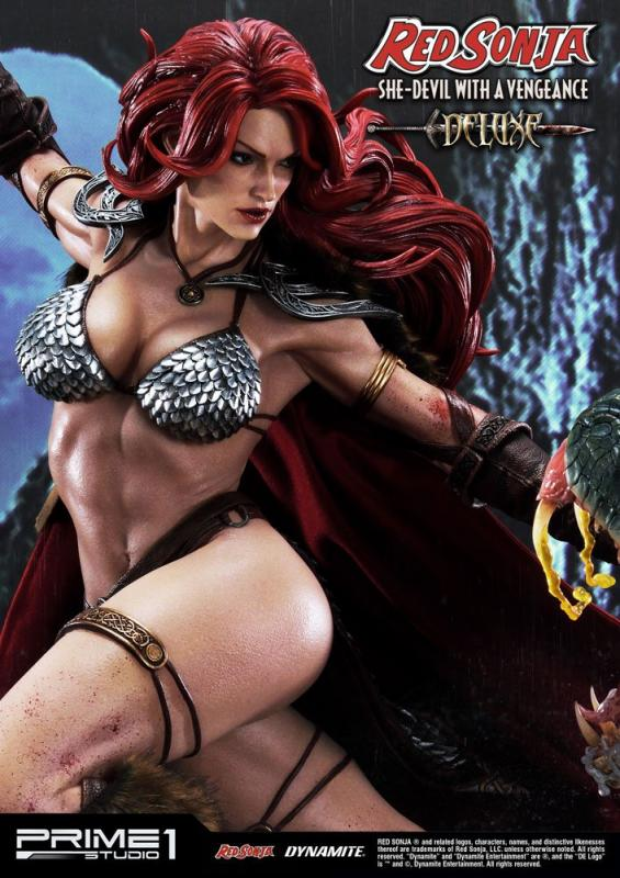 Red Sonja: Red Sonja She-Devil with a Vengeance Deluxe Version - Statue 79 cm - Prime 1