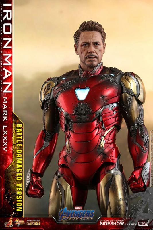Avengers: Endgame MMS Diecast Action Figure 1/6 Iron Man Mark LXXXV Battle Damaged Ver. 32