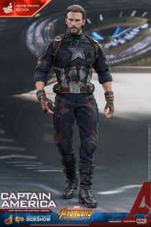 Avengers Infinity War Movie Masterpiece Action Figure 1/6 Captain America Movie Promo Edit