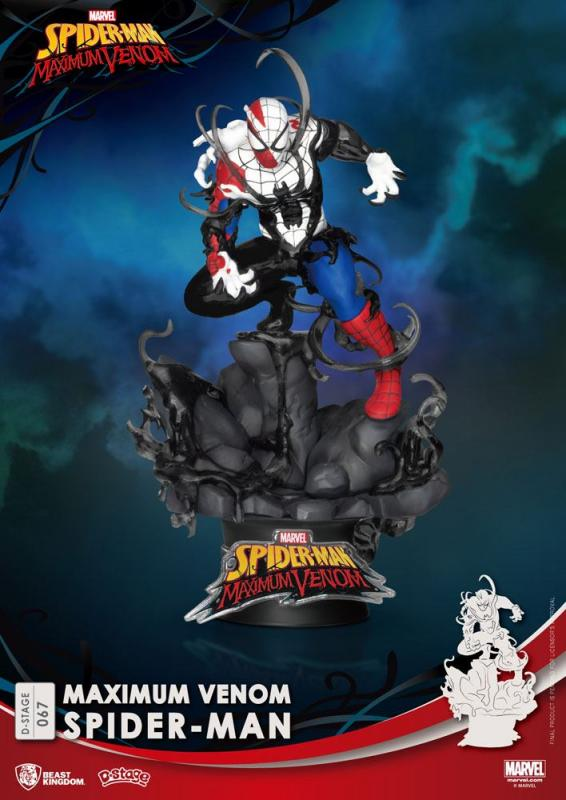 Marvel Comics: Maximum Venom Spider-Man - D-Stage PVC Diorama 16 cm - Beast Kingdom