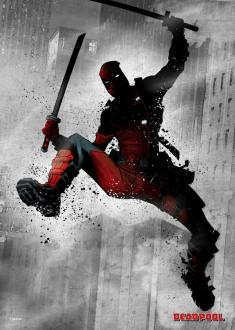 Marvel Comics Metal Poster Dark Deadpool 32 x 45 cm