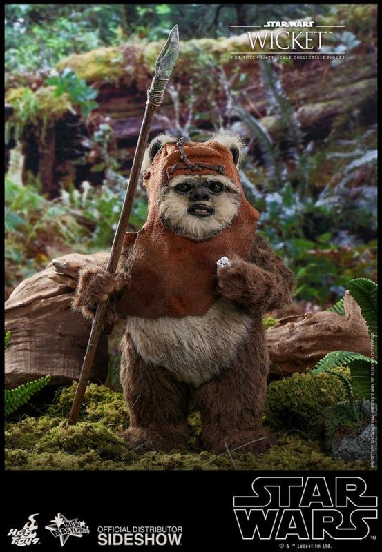 Star Wars Episode VI Movie Masterpiece Action Figure 1/6 Wicket 15 cm