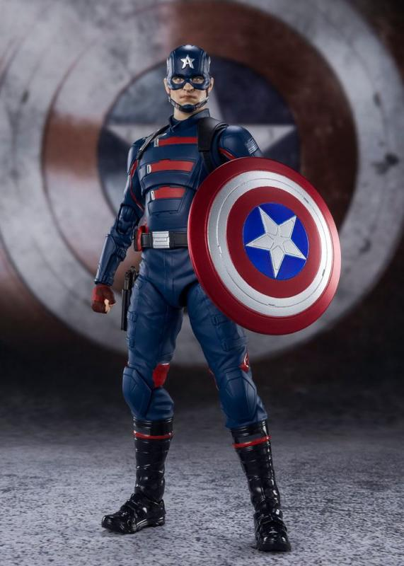 The Falcon and the Winter Soldier: Captain America 15 cm Action Figure - Bandai Thamashii
