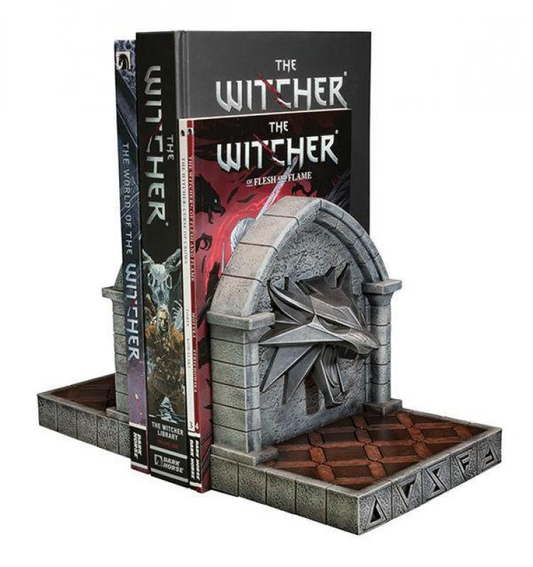 The Witcher 3 Wild Hunt: The Wolf Bookends 20 cm - Dark Horse