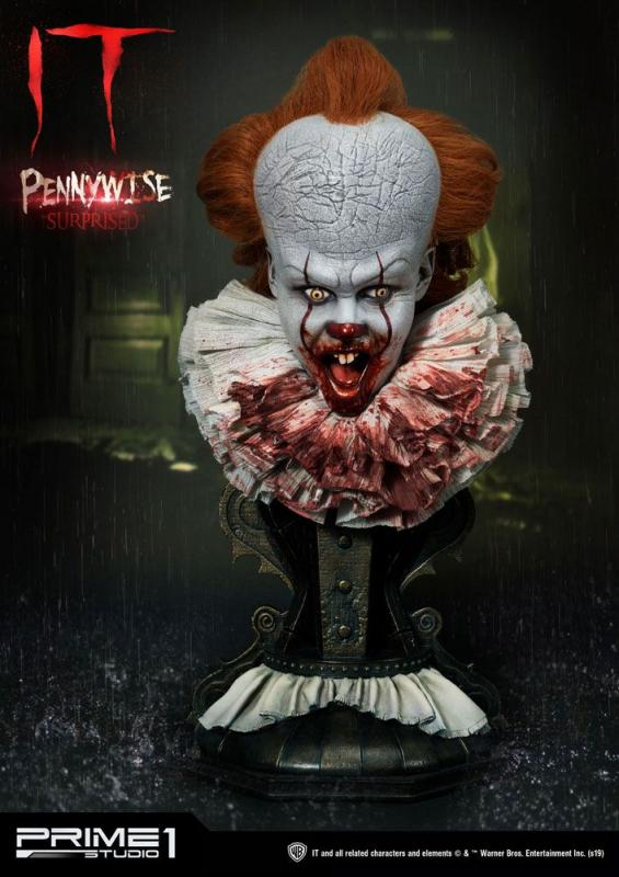 Stephen Kings It 2017 Busts 3-Pack 1/2 Pennywise Serious, Dominant & Surprised 42 cm