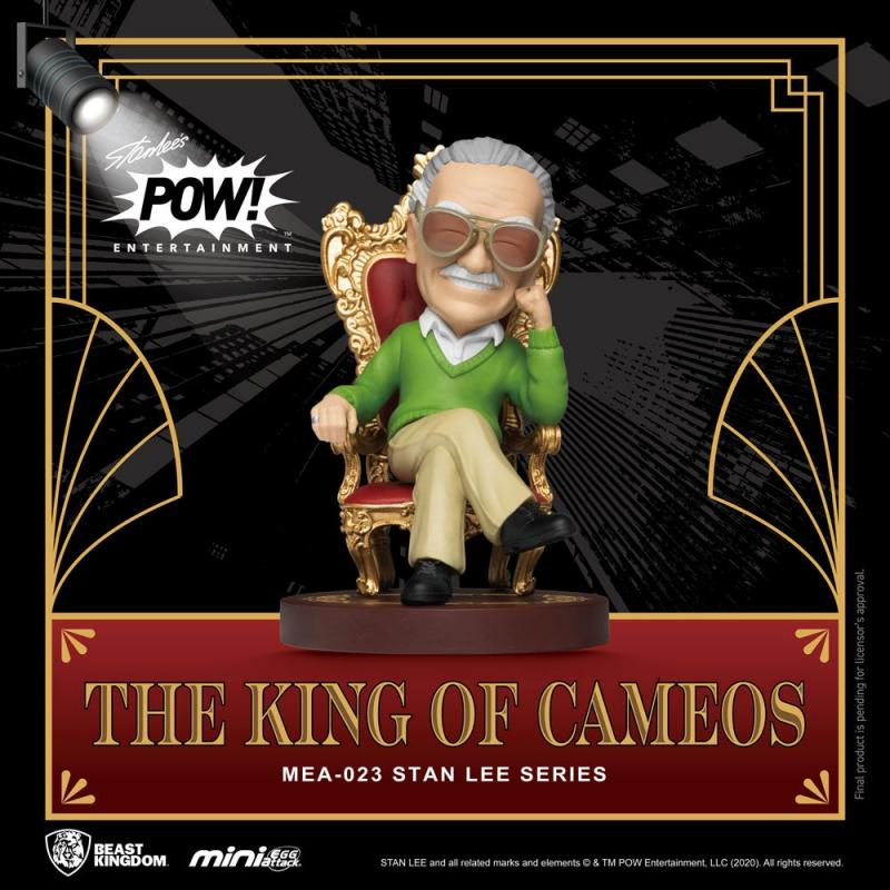 Stan Lee: Stan Lee The King of Cameos - Mini Egg Figure 8 cm - Beast Kingdom