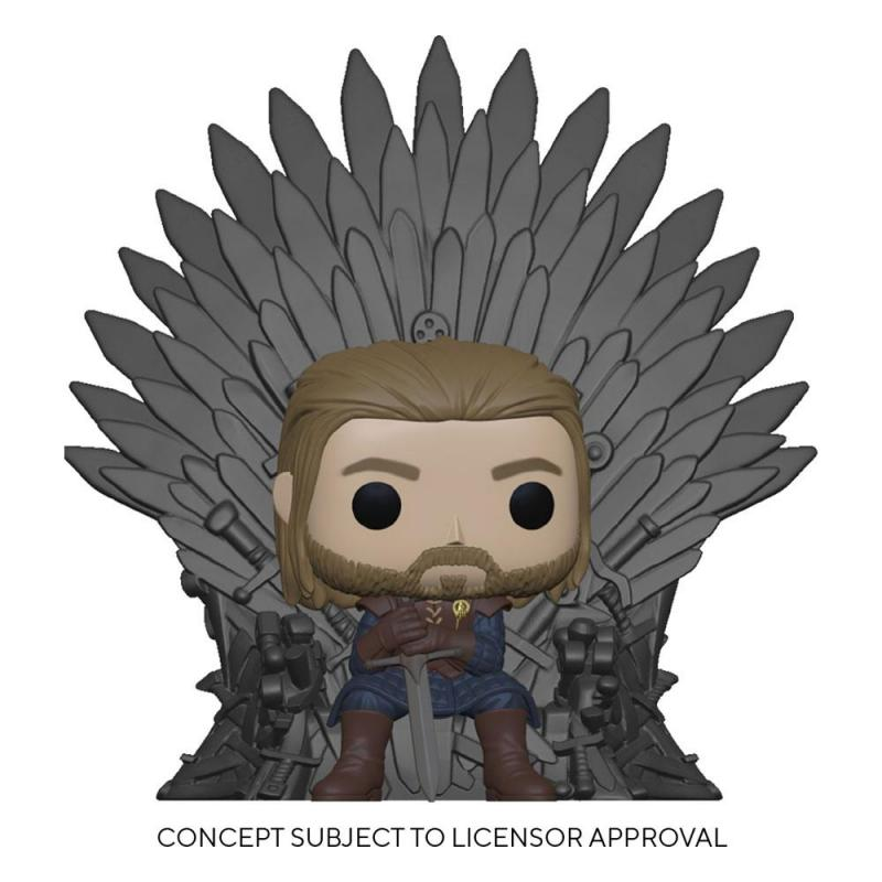 Game Of Thrones: Ned Stark on Throne 9 cm POP! Heroes Deluxe Vinyl Figure - Funko