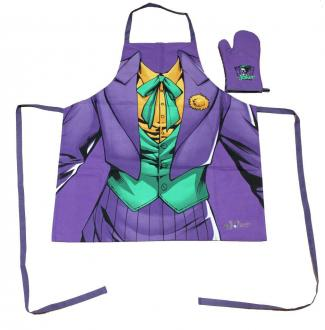 DC Comics cooking apron with oven mitt The Joker