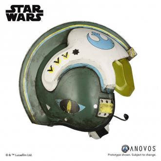 Star Wars Rogue One Replica 1/1 General Merrick Blue Squadron Helmet Accessory Ver.