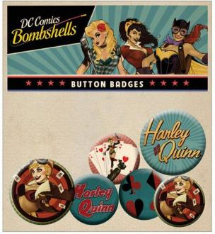 DC Comics Bombshells Pin Badges 6-Pack Harley Quinn