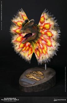 Paleontology World Museum Collection Series Bust Dilophosaurus Yellow Ver. with Neck-Frill