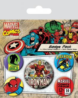 Marvel Comics Pin Badges 5-Pack Iron Man